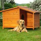 Wooden Dog Kennel Large Winter Warm House Weather Proof Shelter Outdoor Dog Home