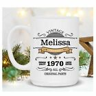 50th Birthday Gift Personalized 50th Birthday Mug Born In 1970 50 Year Old