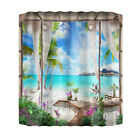 Polyester Scenery With Hook Home Shower Curtain Natural Landscape Bathroom Decor