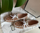 NWB Gucci Mens Shoes Leather GG Guccissima Boat shoes Loafer Sneaker us size 8