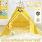 Kids Play Tent Teepee Children Pyramid Playhouse Outdoor Indoor Game House