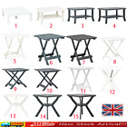 Plastic Small Large Garden Camping Table Picnic Outdoor Snack Table White/Green