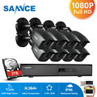 SANNCE 8CH 5IN1 Onvif DVR 1080P TVI Home Security Camera System 1TB Outdoor CCTV