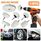 7/5/4pc Car Motorcycle Polishing Buffing Pads Mop Wheel Kit Set for Drill Rotary