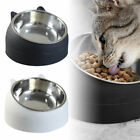Cat Bowl Raised Non-slip Stainless-Steel Elevated Stand Tilted Feeder Bowls UK
