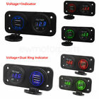 Universal Waterproof Motorcycle Dual USB Ports 12V Phone GPS Charger  Voltmeter