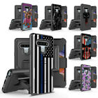 Rugged Dual Layer Holster Case w/Kickstand Card Slot Cover for LG Stylo 6 / Plus