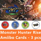 3pcs&9pcs/set Monster Hunter Rise amiibo card for MHR Palamute Magnamalo Palico