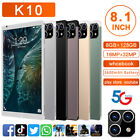 K10 8.1'' HD 5G Smart Tablet PC Android 11.0 8G 128G with 3 Lens Camera Phablet