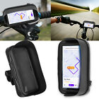 Motorcycle Bike Handlebar Holder Mount + Waterproof Bag Case For Cell Phone GPS