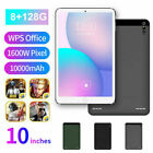 """10.1"""" Inch Android 9.0 Tablet Pc 8+128gb Hd Wifi Three Camera Bluetooth Gps Uk"""