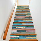 3D Stairs Stickers Riser Staircase Wall Stickers HD Mural Scenery Arts Wallpaper