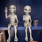 Outer Space Alien Ornaments Garden Resin Statue Figurine Home Decoration Gift