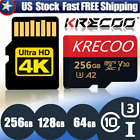 256GB Micro SD Card SDHC SDXC Memory Card 4K Class 10 TF Flash Card with Adapter