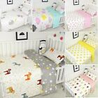 3PCS Baby Bedding Set Reversible Duvet Cover Flat Sheet Pillowcase Nursery Bed