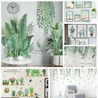 18 Styles Tropical Leaves Green Plant Wall Stickers Pvc Decal Home Decor *-*