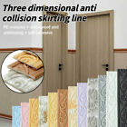 Self-adhesive Diy 3d Wallpaper Sticker Waterproof Skirting Border Home Decor New