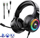 Gaming Headset Mic LED 3.5mm DC Headphones Stereo Surround For PS5 Xbox ONE PC