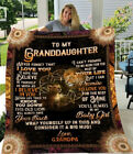 Lion Family Grandpa to My Granddaughter Never Forget that I Love You Blanket