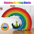Building Blocks Wooden Rainbow Stacker Stacking Nesting Toys For Baby Toddlers