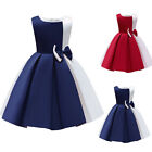 Kids Girls Princess Sleeveless Vest Dress Party Wedding Bridesmaid Dresses Gown