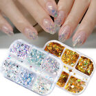 Sparkly Slices Holographic Chunky Star Moon Nail Sequins Summer Glitter Flakes