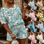 New Women Summer Tops Shorts Suit Two Piece Set Beach Casual Street Outfits