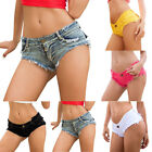 Women's Casual Denim Shorts Frayed Stretch Hot Pants Summer Beach Jeans Shorts