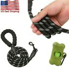 Dog Leash Large Pet Rope Heavy Duty Reflective Nylon Leads with Comfy Handle 5FT
