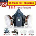 7/17 in 1 Half Face Gas Mask Respirator For 7502 Facepiece Spraying Painting