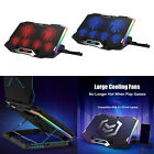 RGB Laptop Cooler Stand Cooling Pad Six Fans for 12-18 Inch Non-slip Quiet