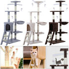 Large Cat Tree Activity Centre Scratcher Tower Post Kitten Play Toy Sisal Bed UK