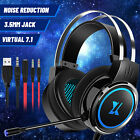 3.5mm Gaming Headset Mic LED Headphones 7.1 Stereo Surround PC PS4 Xbox ONE iPad