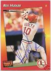 REX HUDLER t. Louis Cardinals 1992 LEAF AUTOGRAPHED BASEBALL CARD  PSA/DNA